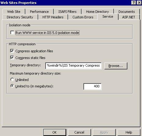Compresión HTTP IIS