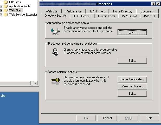 IIS certificados cliente