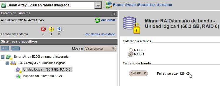 Migrar HP RAID 1 ACU