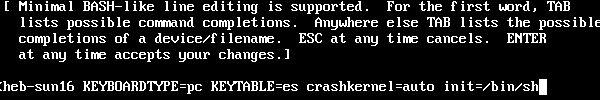 Emergency mode RHEL 6