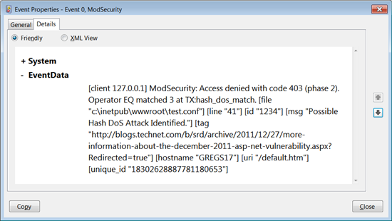 IIS ModSecurity extension