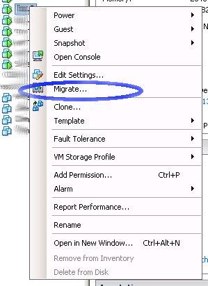 VMware migrate virtual machine