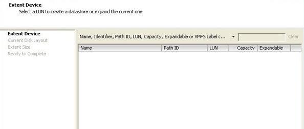 ESX Extent device increase datastore
