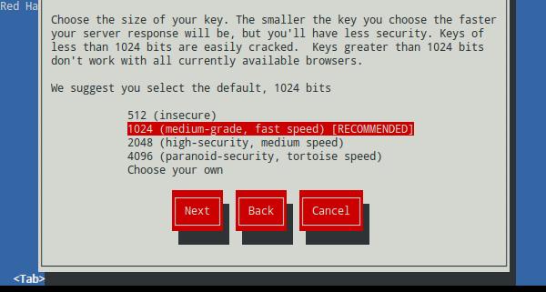 Generar un certificado SSL con genkey (Red Hat Keypair Generation) 2