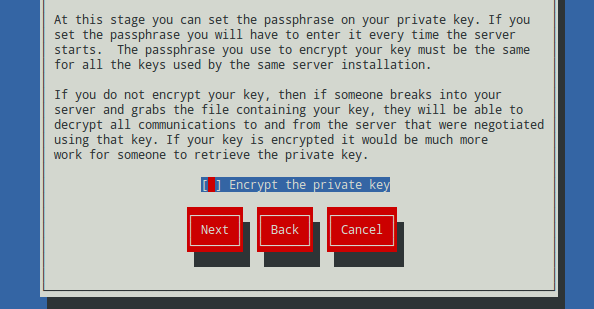 Generar un certificado SSL con genkey (Red Hat Keypair Generation) 6