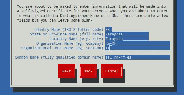 Generar un certificado SSL con genkey (Red Hat Keypair Generation) 7