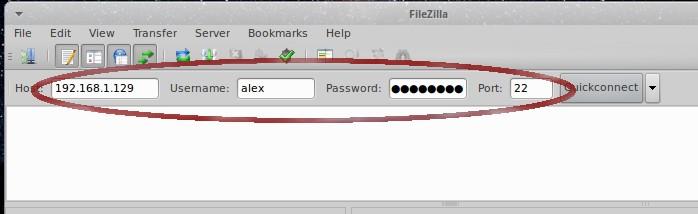 sFTP  server Filezilla