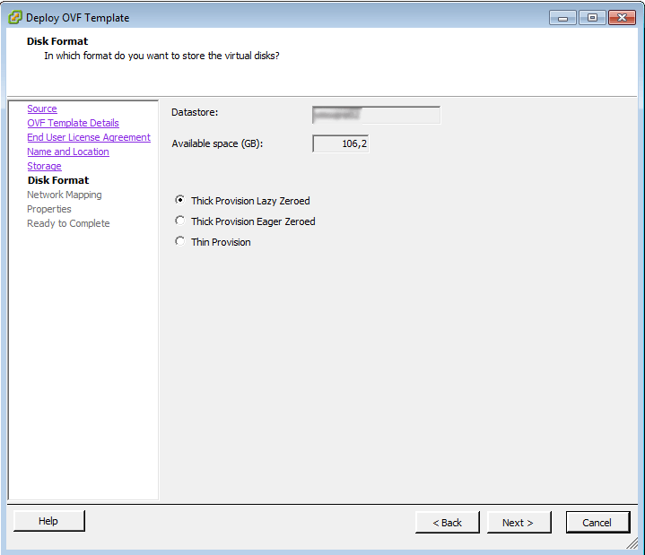 vCenter Deploy OVF Template 5