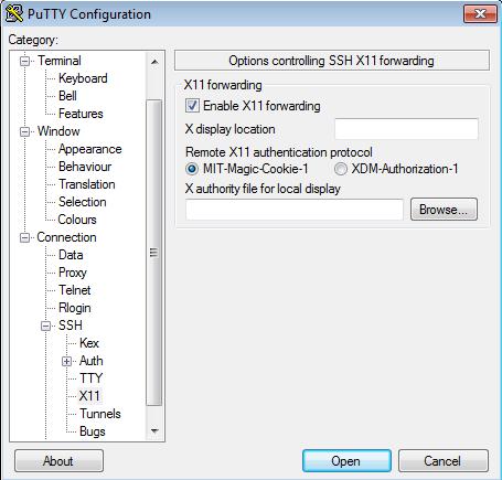 Putty X11 Forwarding