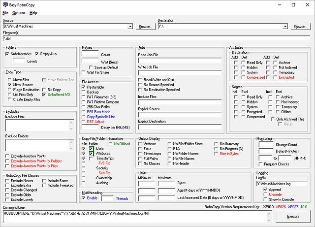 Easy RoboCopy GUI