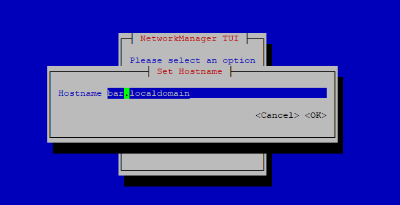 Hostname configuration RHEL CentOS