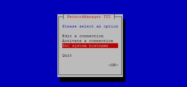 Hostname configuration RHEL